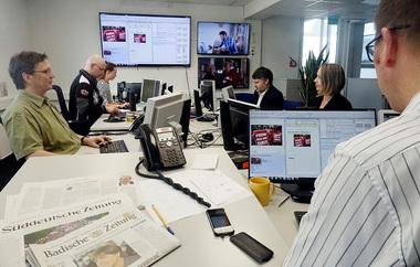 Planungsphase im Newsroom