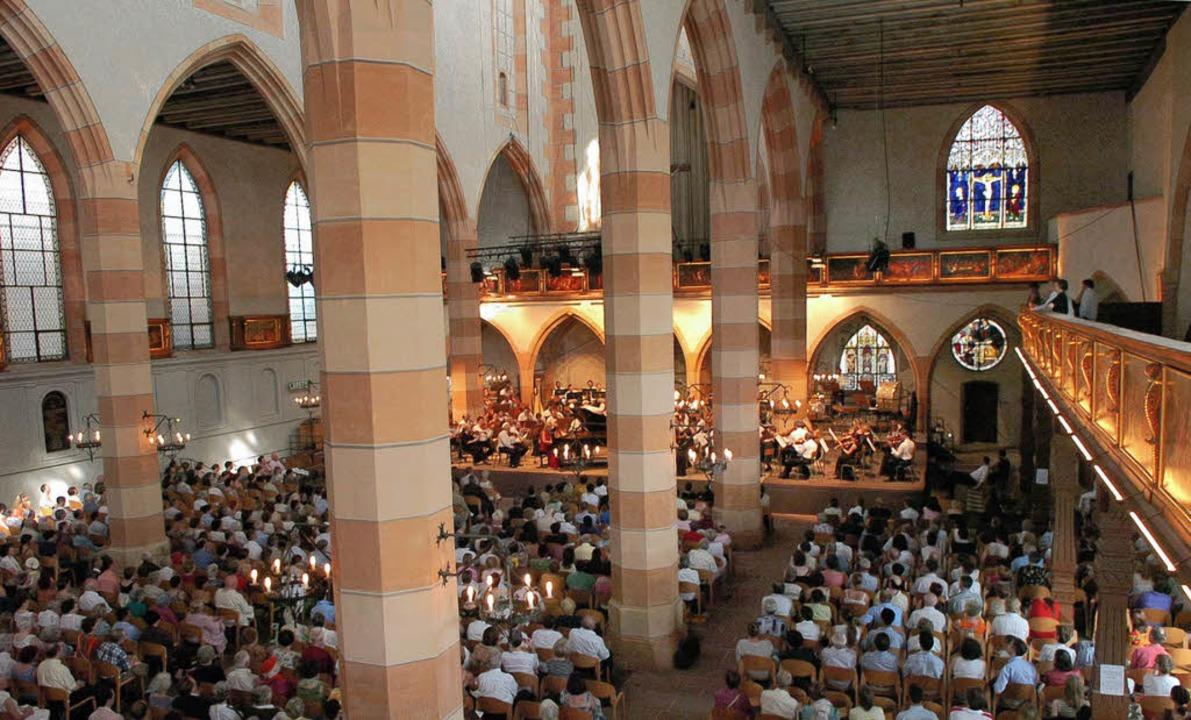 Festivalstimmung: Konzert in der Colmarer St-Matthieu-Kirche    Foto: pro