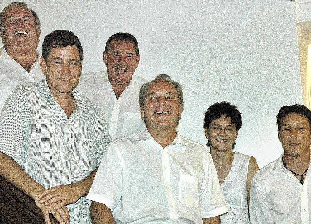 Narrenzunft-Vorstand: (von links) Axel... Stefan Vogt, es fehlt  Thomas Sutter.  | Foto: Heidemarie Wussler