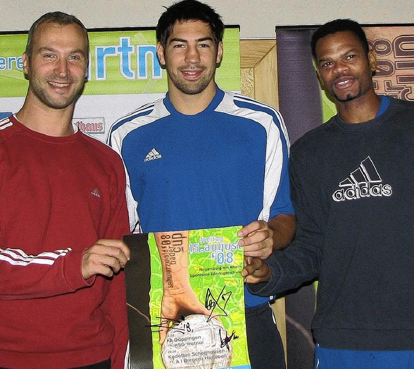 Trainieren für die Spiele in Peking un...sischen  Handball-Nationalmannschaft.   | Foto: Lars Bargmann