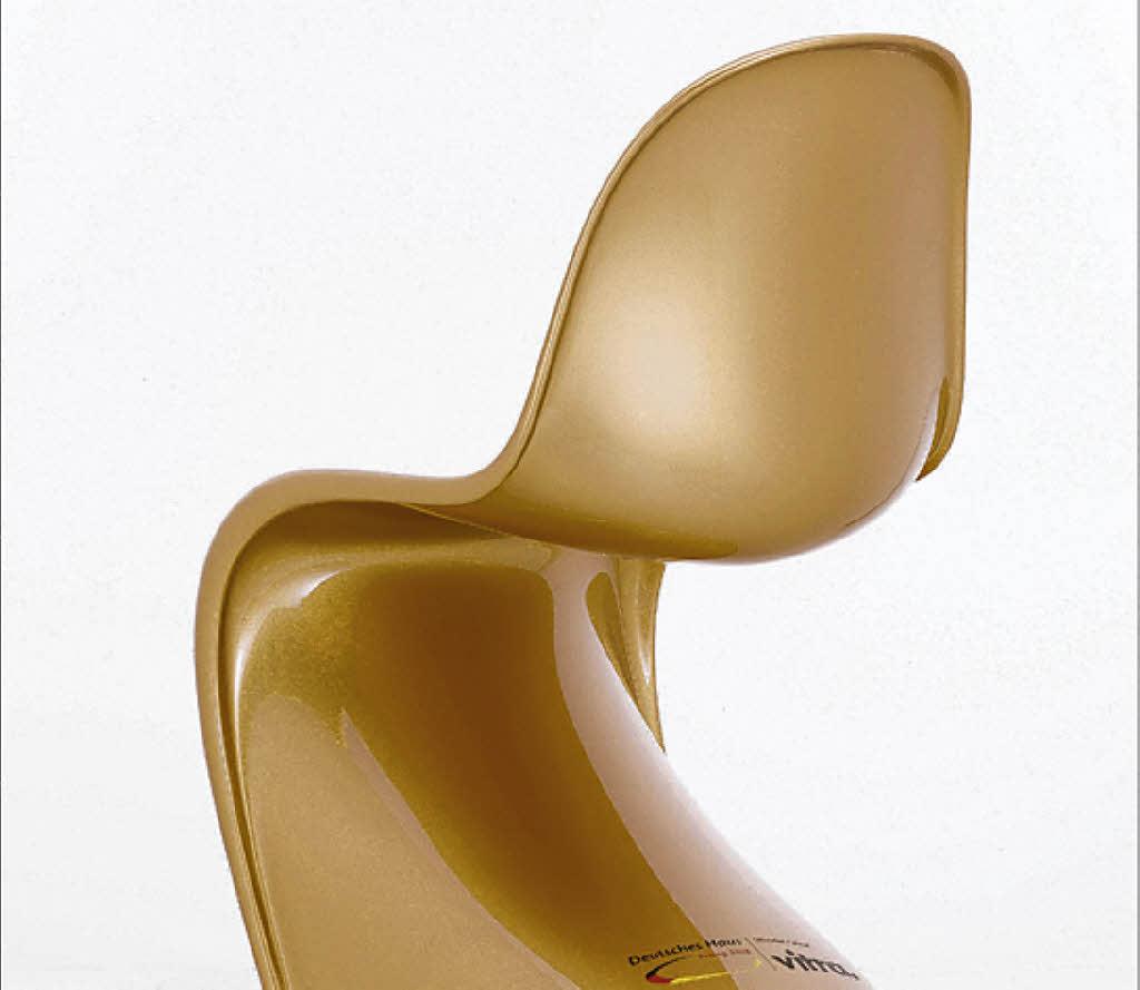 panton chair vergoldet den medaillenjubel weil am rhein badische zeitung. Black Bedroom Furniture Sets. Home Design Ideas