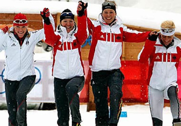 Langlauf: Deutschlands Damen-Staffel holt Silber.Foto: dpa