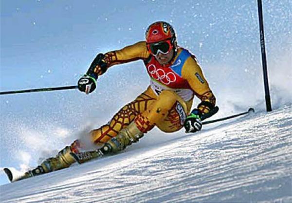 Kanadier Francois Bourque auf der Piste.Foto: afp