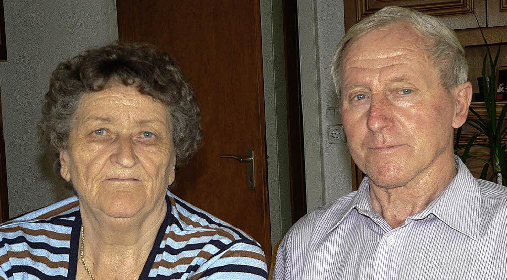 ... zurück: Anneliese und Ernst Greiner aus Wiechs.  Foto: Georg Diehl