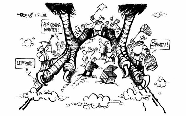Der G-20-Gipfel Zeichnung: Haitzinger