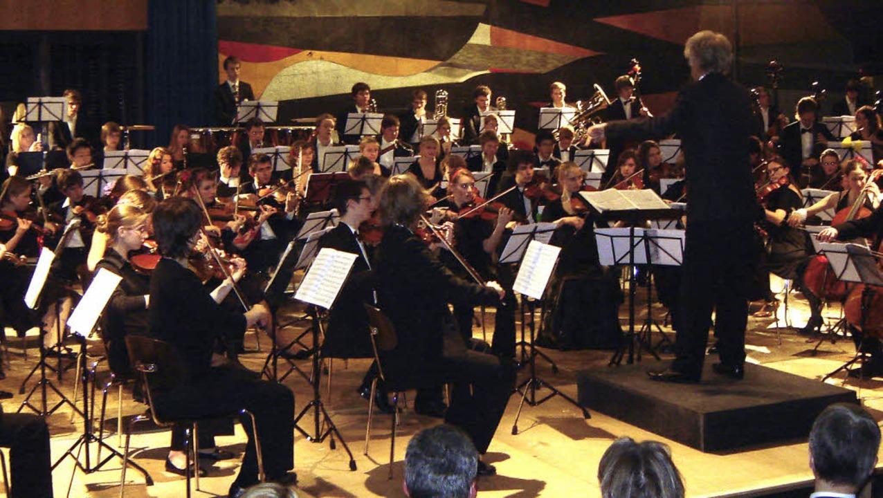 Ein Konzert mit Werken von Brahms und ... Aula des Staufener Faust-Gymnasiums.     Foto: Bianca Flier