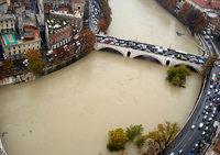 Rekord-Hochwasser in Rom