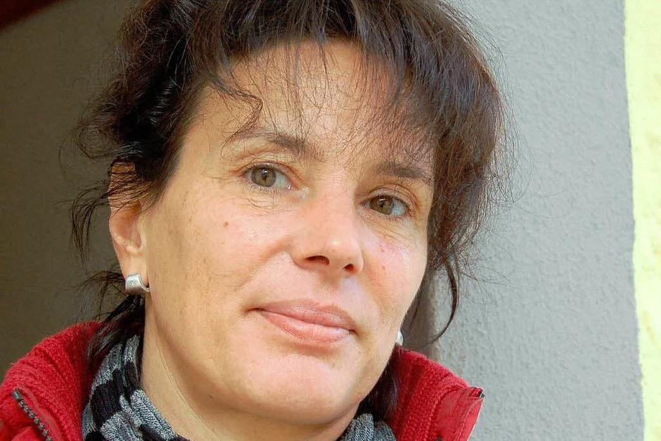 """Ellen Gebel, wohnt in der Jägergasse: """"Plötzlich war da dieser Riss…. (Foto: Silke Kohlmann)"""