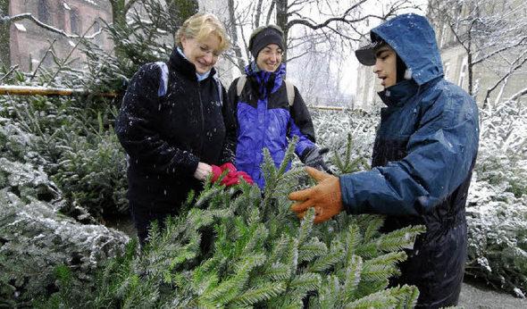 Oh billigbaum oh biobaum freiburg badische zeitung - Weihnachtsbaumverkauf obi ...