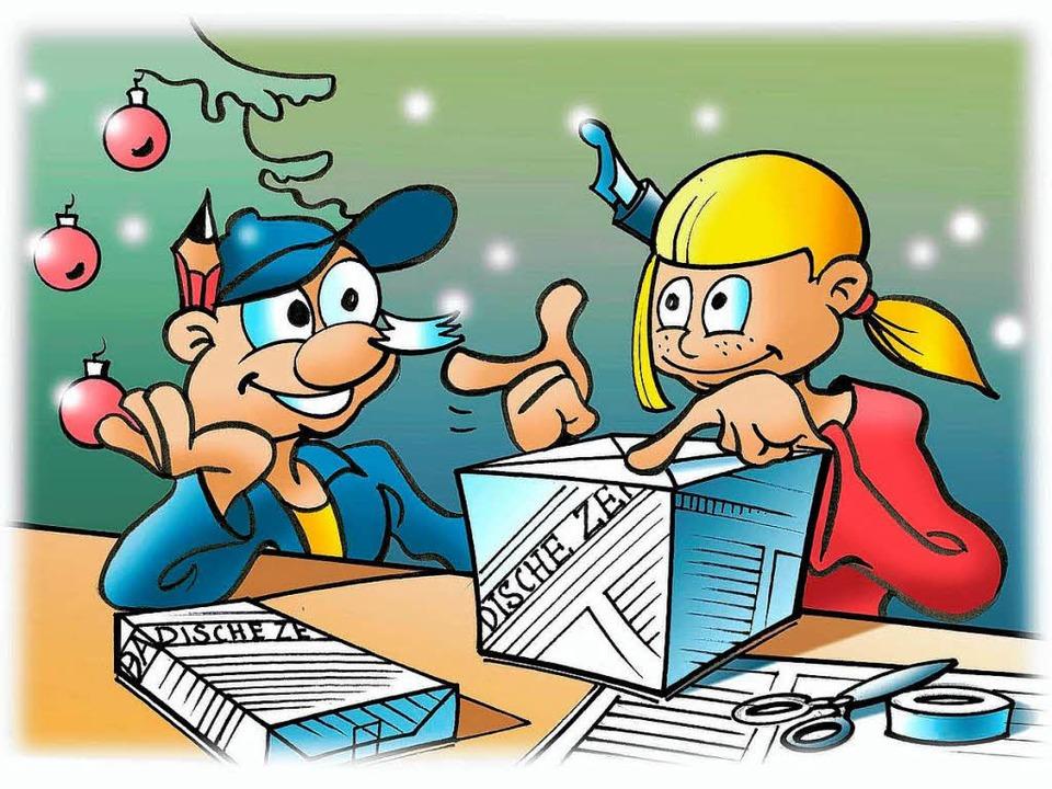 Ein Weihnachtsgeschenk aus Zeitung - Neues für Kinder - Badische Zeitung