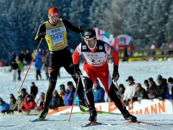 Tino Edelmann (l) gegen Jan Schmid (r) Norwegen