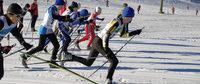 Startgedränge beim Skilanglauf wie in den besten Zeiten