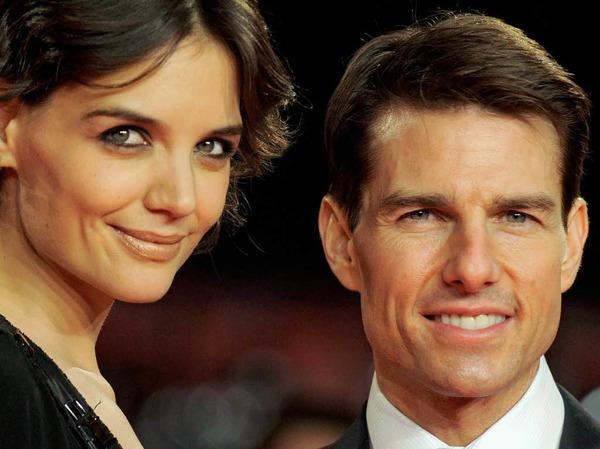Die Stars des Abends: Tom Crusie und Katie Holmes.