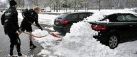 Schneeschipper sorgen für gute Laune