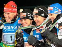 Biathlon: Damen-Staffel verpasst WM-Titel