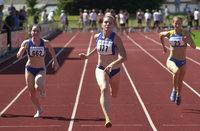 Tatjana Steidle sprintet über 200 Meter zu Silber