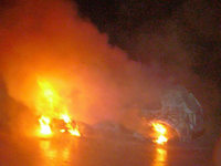 Auto brennt auf A 98 völlig aus