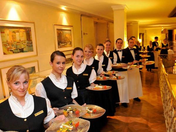 Aufgetischt: Ein vier-Gänge-Menü erwartete die Gäste des Frühlingsballs der Gastronomie.