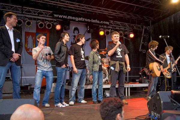 """DSDS-Star Dominik B�chele rockte mit seiner Band """"Umleitung"""" seinen Heimatort Kappel-Grafenhausen."""
