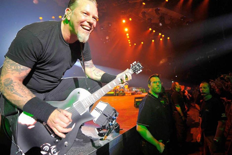 Spielfreudig: Metallica in München. (Foto: ddp)