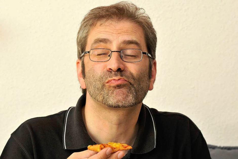 Ist der Pizza-Mix Ihr Favorit? Ergebnis: Jäger identifizierte schon vor dem ersten Bissen die Käsesorten richtig. (Foto: Ingo Schneider)
