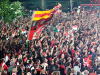 Fotos: Fans begrüßen den SC Freiburg