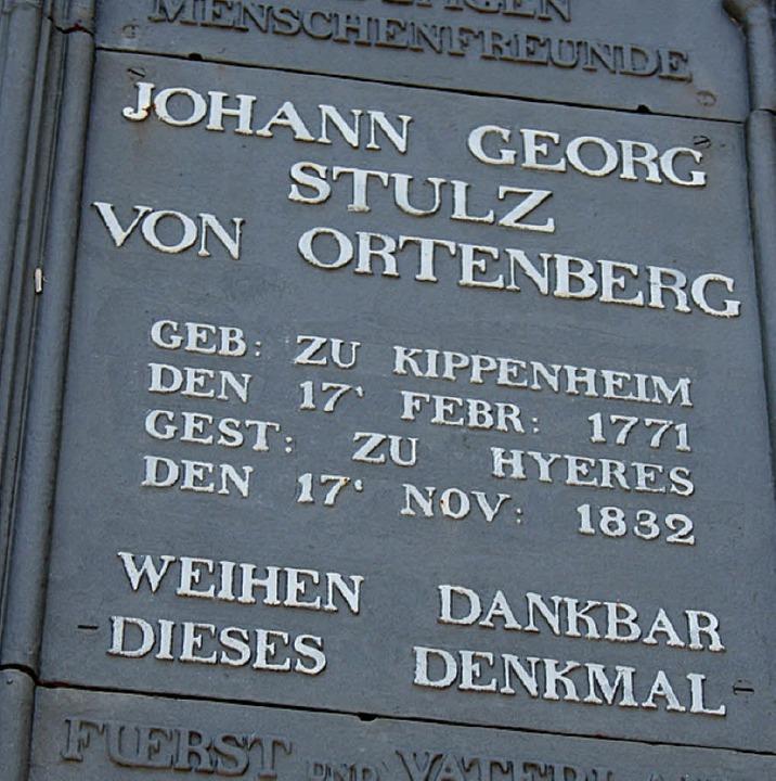 Die Tafel am Denkmal  | Foto: Theo Weber