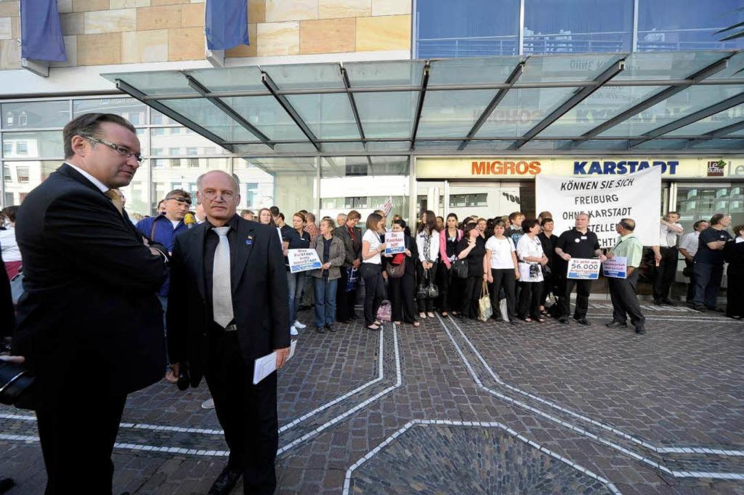 Ziehen an einem Strang: Geschäftsführe...s) und Betriebsratschef Ralf Stehning.    Foto: Thomas Kunz