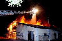 Brand zerstört Lagerhalle in der Ortenau