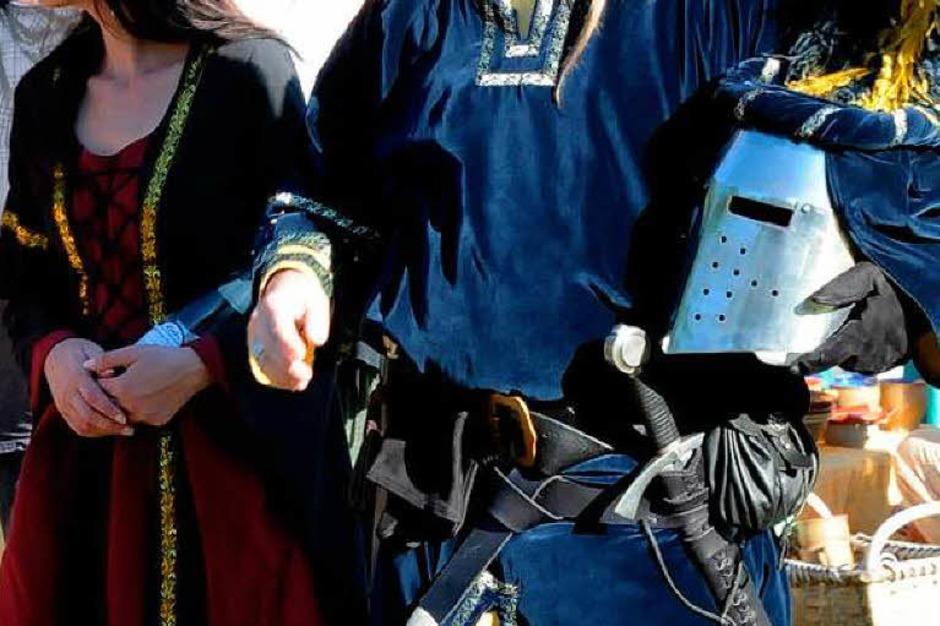 Mittelalter im Dreiländergarten: Heerlager, Märkte, Kostümierte und viele Zuschauer (Foto: Andrea Schiffner)