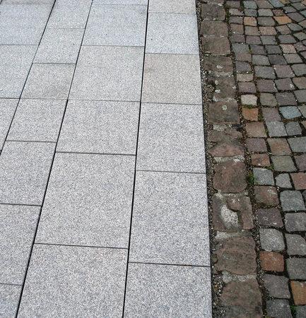 Rote granitplatten