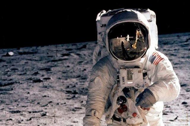 Als der erste Mensch den Mond betrat