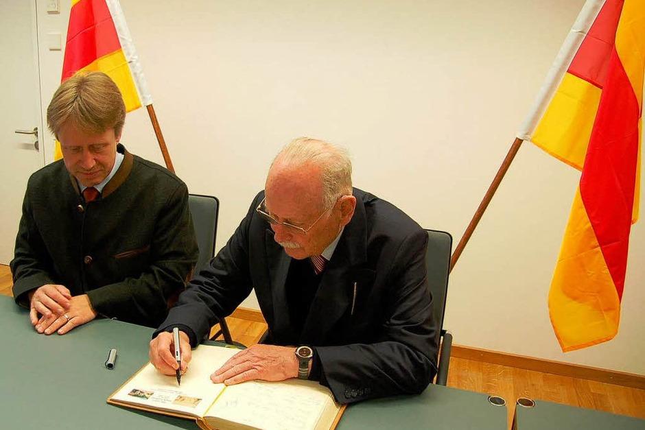 Eintrag des Markgrafen ins Gästebuch (Foto: Ulrike Jäger)