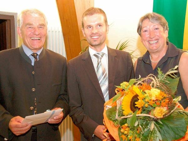 Blumen und Dank von Nachfolger Christian Ante.
