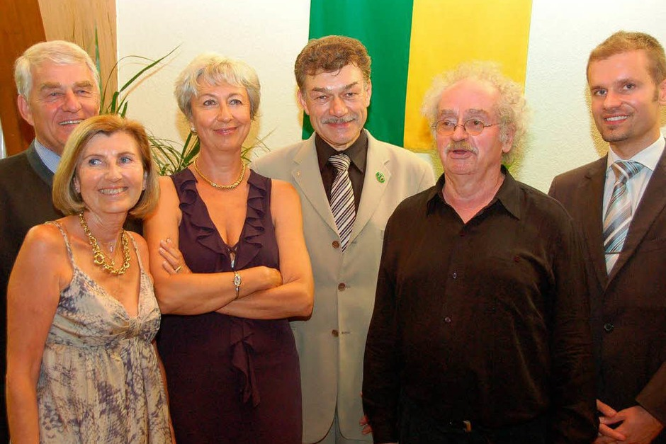 Die Gäste aus Dardilly mit Christian Ante und Eugen Isaak. (Foto: Tanja Bury)