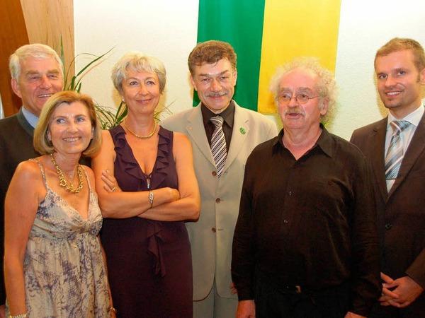 Die Gäste aus Dardilly mit Christian Ante und Eugen Isaak.