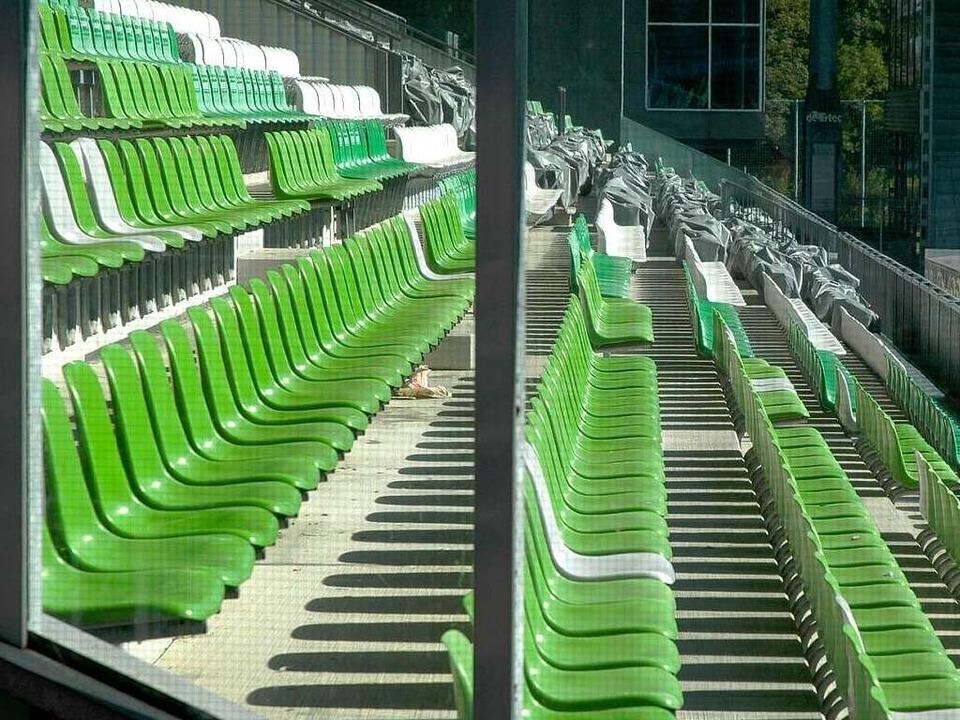 Individuell, aber für die Fußball-Bund...e Ort: das Freiburger Badenova-Stadion  | Foto: Brigitte Sasse