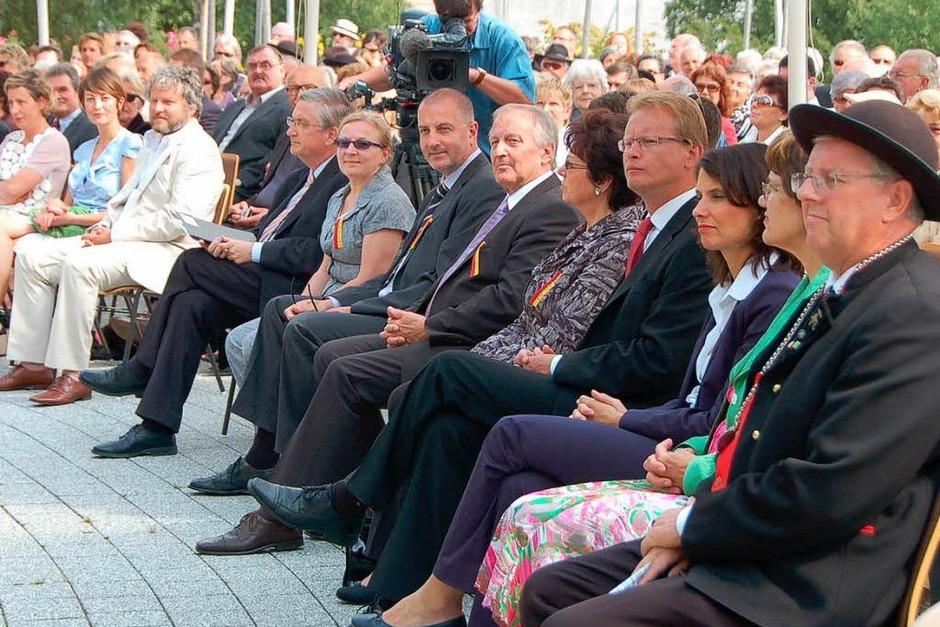 Prominenz aus Kunst und Politik waren am Sonntag in Bernau zu Gast (Foto: Kathrin Blum)