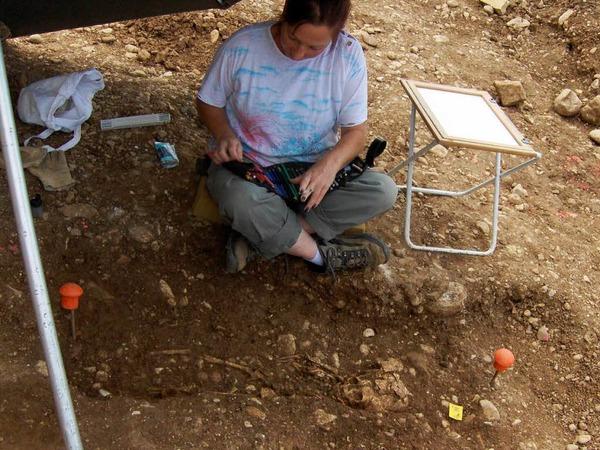Alle Funde werden sorgf�ltig dokumentiert.