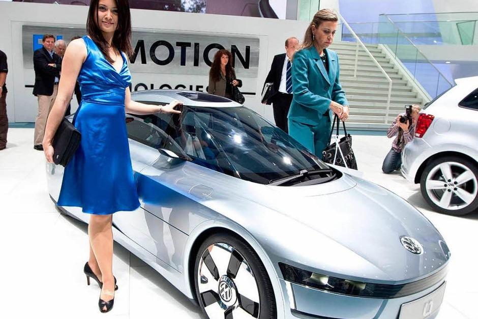 """Weltpremiere des neuen 1-Liter-Autos """"L1"""" von VW (Foto: Dominic Rock)"""