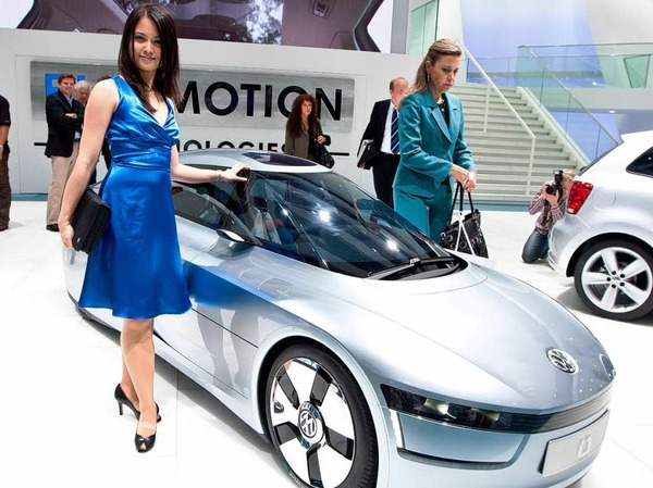 """Weltpremiere des neuen 1-Liter-Autos """"L1"""" von VW"""