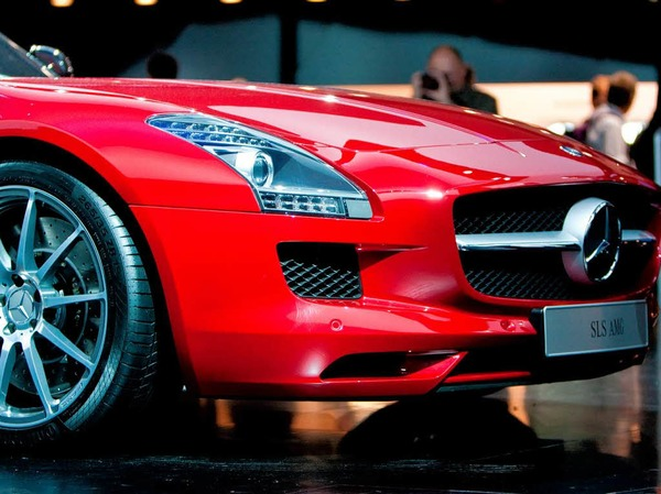 Eines der IAA-Highlights: Der Mercedes-Benz SLS AMG