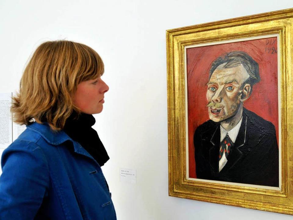 """Das Bild """"Max John"""" von Ot... im Museum für Neue Kunst in Freiburg.    Foto: Ingo Schneider"""