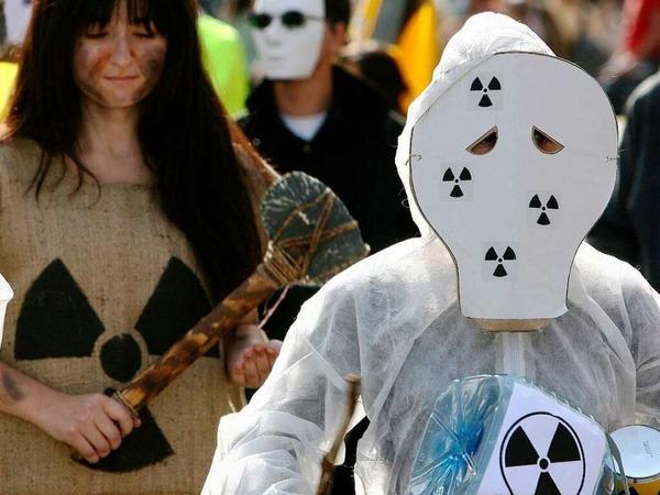 Bei der Großkundgebung gegen Atomkraft in Colmar kamen Tausende zusammen.
