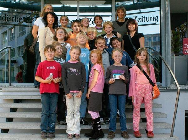Die Klasse 4 der Alemannen-Schule mit Lehrerin Modlich