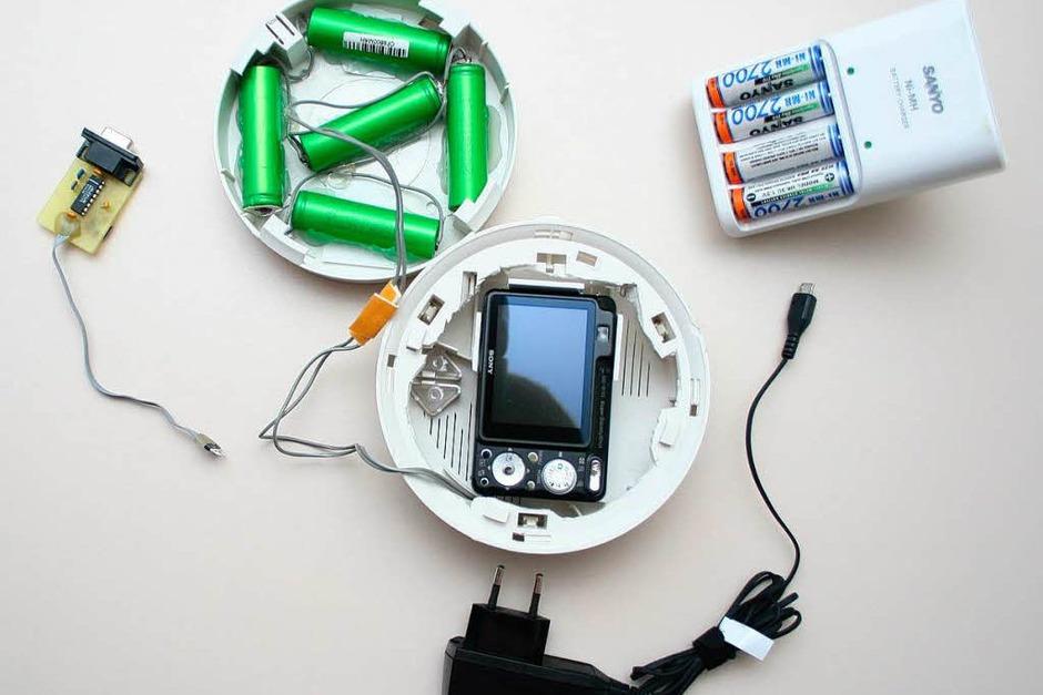 Auch Rauchmelder-Attrappen können als Versteck für  Kameras dienen. (Foto: LKA Bayern)