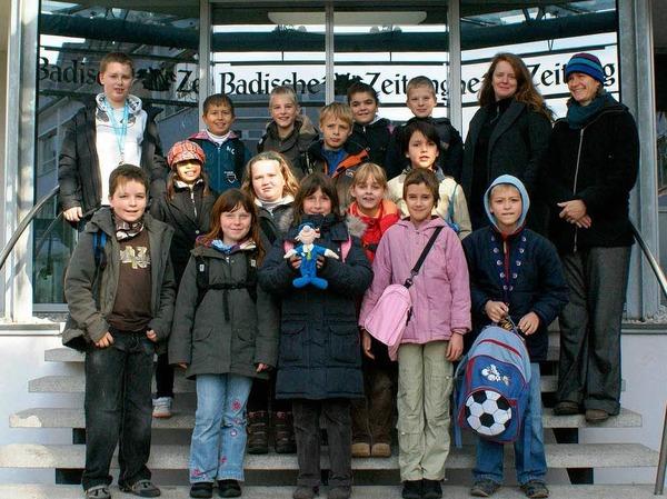Die Klasse 4b der GHS Umkirch mit Lehrerin Frau Brandt