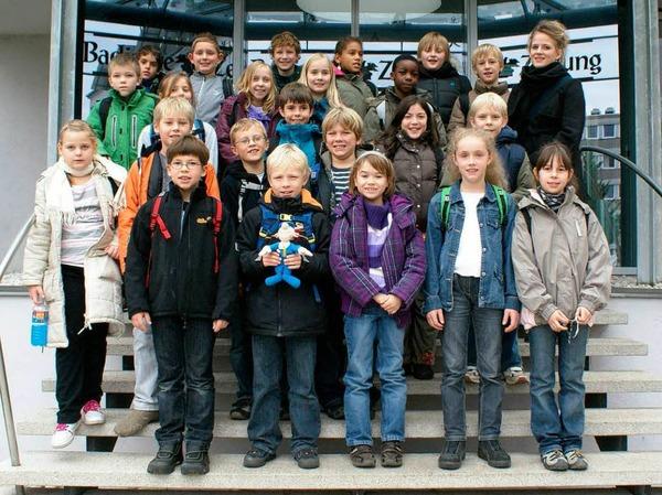 Die Klasse 4b der Freien Evangelischen Schule mit ihrer Lehrerin Frau R�der