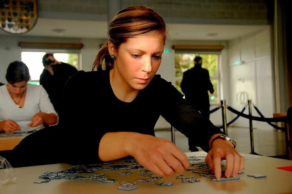 Impressionen von der ersten Weltmeisterschaft im Speedpuzzle, die im Bürgerhaus Seepark entschieden wurde