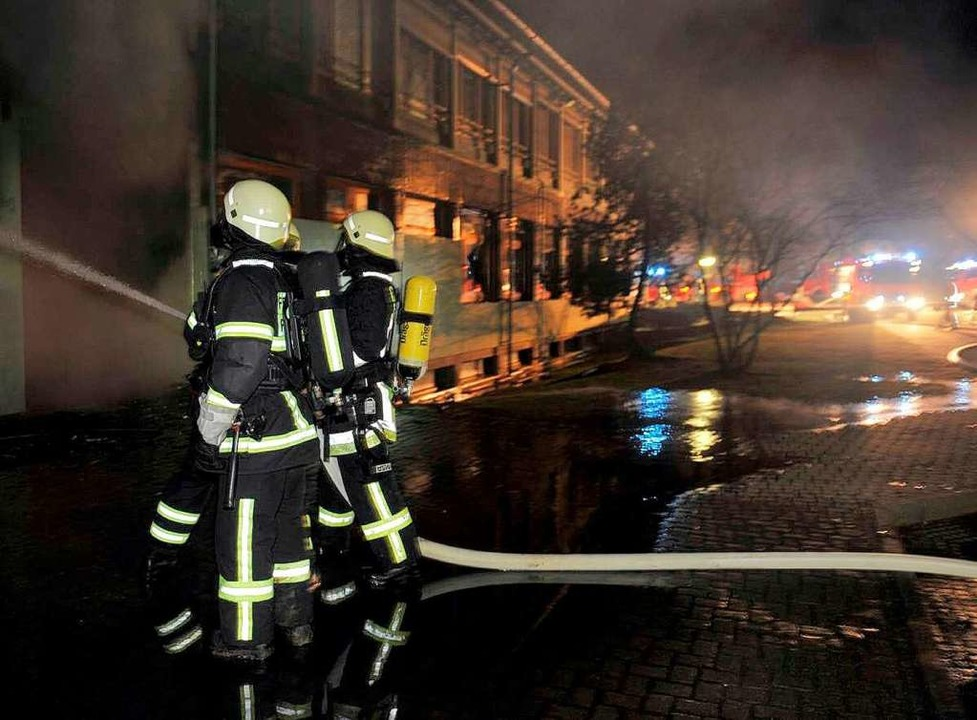 Das Werk von betrunkenen Zündlern: Bei...ar ein Schaden von 1,5 Millionen Euro.  | Foto: Patrick Seeger